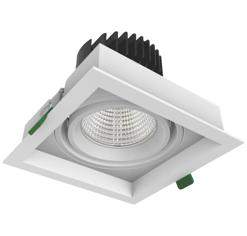 cree cob led grille downlights