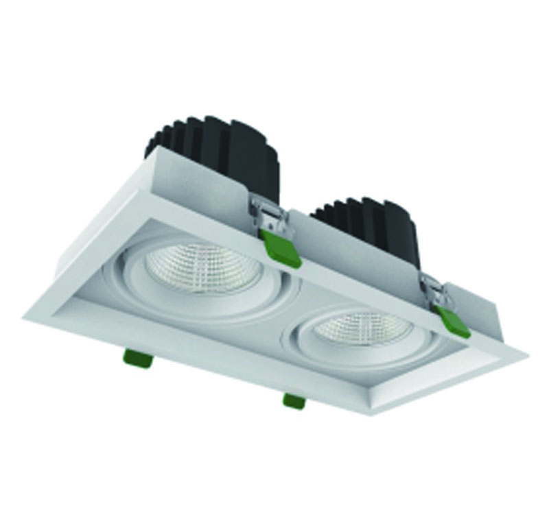 COB Cree LED Grille downlight 2x33W