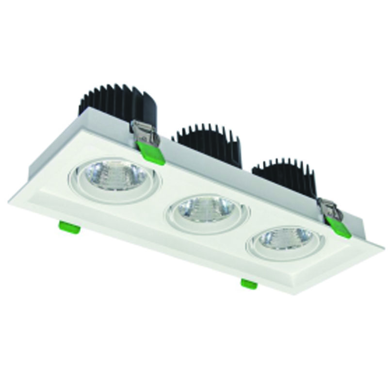 cree cob led grille downlights 3x33W